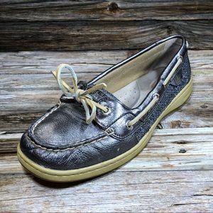 Sperry Top Sider Angelfish Silver Boat Shoe Women